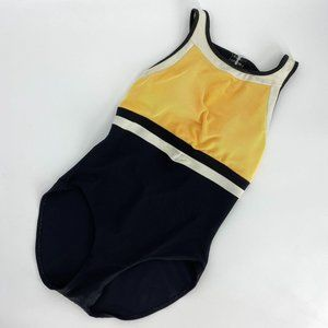 Vintage One Piece Ribbed Bathing Suit